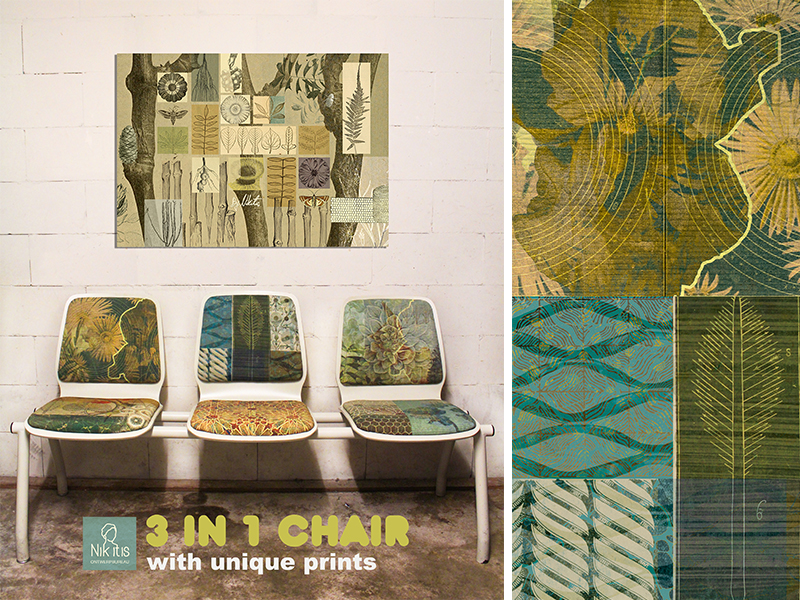 3 in 1 chair met Nikitis prints