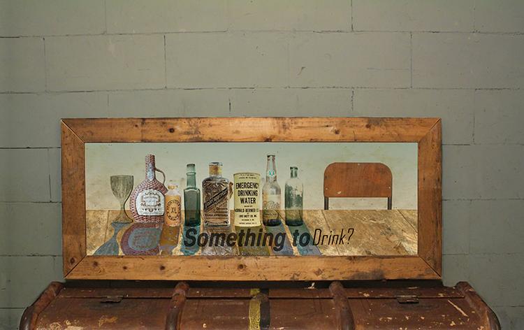 Wall art in handgemaakte houten lijst
